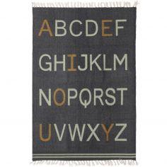 Tapis Alphabet rectangulaire gris  (100 x 140 cm)