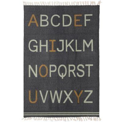 Tapis Alphabet rectangulaire gris  (100 x 140 cm)  par Art for Kids