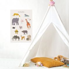 Grande affiche savane Animals of Africa (60 x 40 cm)