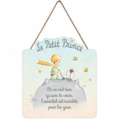 Panneau bois Le Petit Prince rose