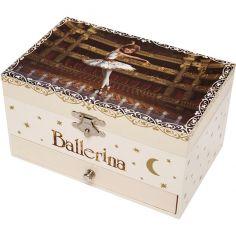 Boîte à bijoux musicale phosphorescente Ballerina