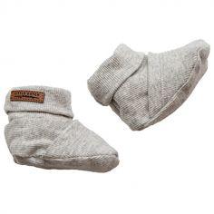 Chaussons bébé gris (0-3 mois)