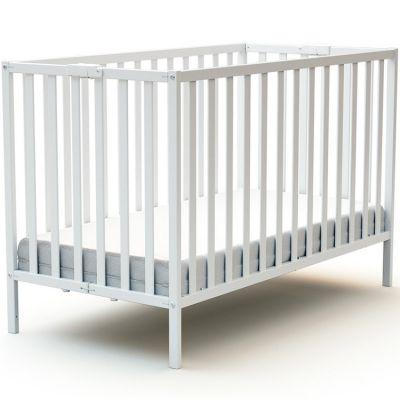 Lit pliable en bois de hêtre Essentiel blanc (60 x 120 cm)  par AT4