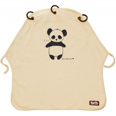 Protection pour poussette Baby Peace coton bio Panda sable Kurtis
