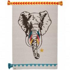 Tapis rectangulaire Circus éléphant (100 x 150 cm)