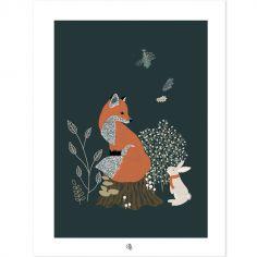 Affiche M.Fox renard (30 x 40 cm)