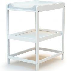 Table à langer en bois de hêtre Confort blanc