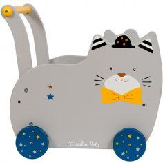 Chariot de marche chat Fernand Les Moustaches