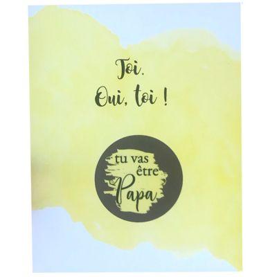 Carte annonce de grossesse à gratter papa Toi, oui, toi ! (8 x 10 cm)