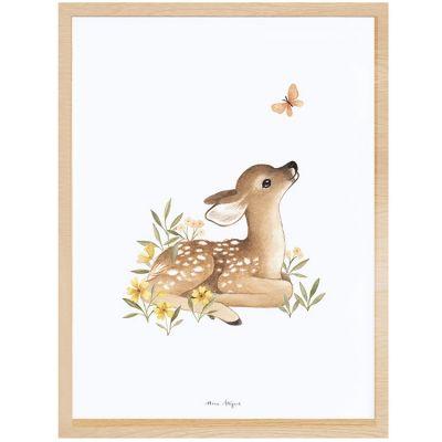 Affiche encadrée faon Oh deer (30 x 40 cm)  par Lilipinso