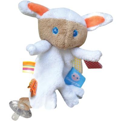 Doudou mouton attache sucette Mak Snoozebaby