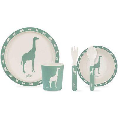 Coffret repas Safari vert d'eau (5 pièces)  par Jollein