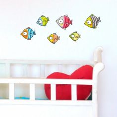 Stickers poissons bubulles
