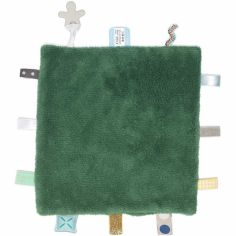 Doudou attache sucette Sweet Dreaming Forest green (25 x 25 cm)