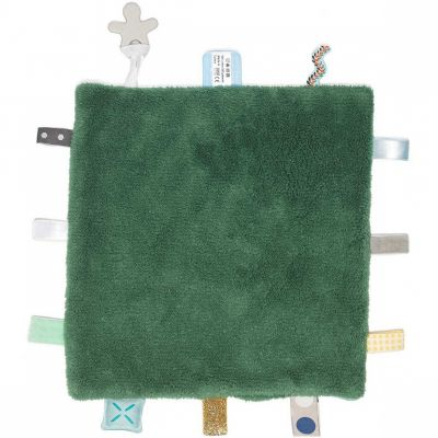 Doudou attache sucette Sweet Dreaming Forest green (25 x 25 cm) Snoozebaby