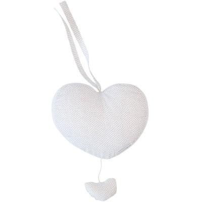 Coussin coeur musical Dots (22 x 22 cm) Les Rêves d'Anaïs