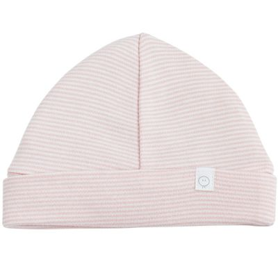 Bonnet en coton et bambou rose clair (3-6 mois)