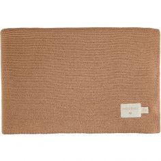 Couverture bébé tricotée marron So Natural (70 x 90 cm)