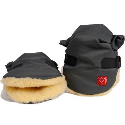 Moufles pour poussette Twoolly gris anthracite Kaiser