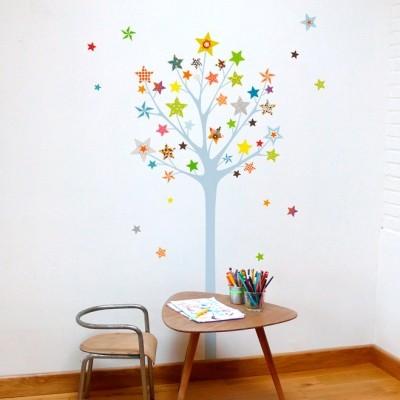Sticker arbre à étoiles  par Série-Golo