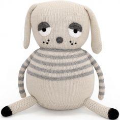 Peluche tricotée chien Lazy Dog (30 cm)