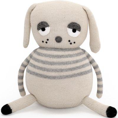 Peluche tricotée chien Lazy Dog (30 cm)  par ooh noo