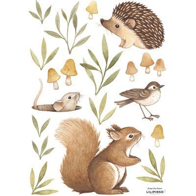 Stickers Oh deer animaux de la forêt (29,7 x 42 cm)  par Lilipinso