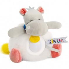Doudou veilleuse hippopotame Tropi'cool