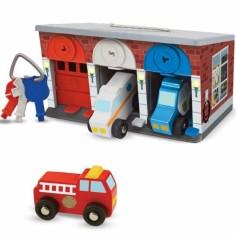 Garage avec clés et véhicules de secours