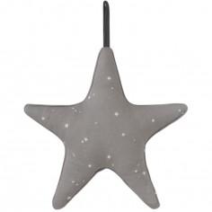 Doudou musical à suspendre étoile Little stars grey (27 cm)