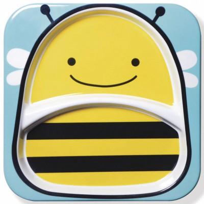 Assiette compartiment Zoo abeille  par Skip Hop