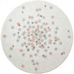 Tapis rond étoile Nova rose (120 cm)