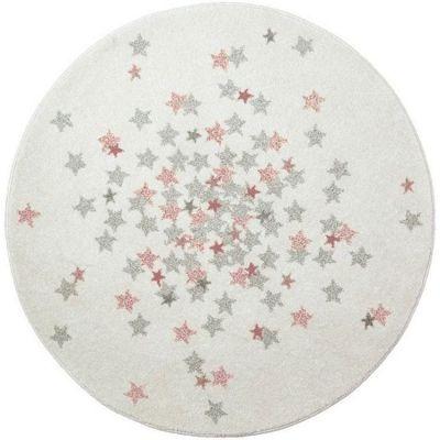 Tapis rond étoile Nova rose (120 cm) Art for Kids