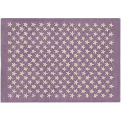 Tapis en laine Little Stars Bois Rose (140 x 200 cm)