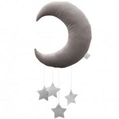 Mobile Lune gris