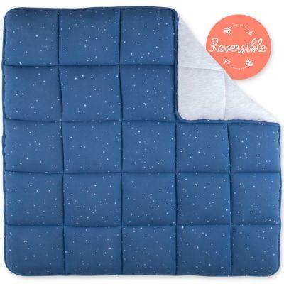 Tapis de parc réversible constellations Stary bleu jean (100 x 100 cm)  par Bemini
