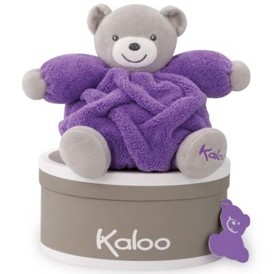 Coffret doudou boule Néon ours violet (18 cm) Kaloo