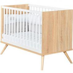 Lit bébé à barreaux Seventies (60 x 120 cm)