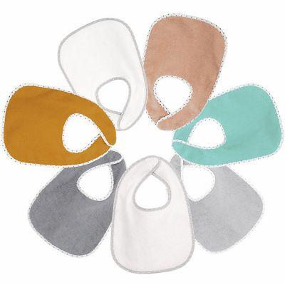 Lot de 7 bavoirs à velcro multicolores  par Trois Kilos Sept
