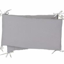 tour de lit plumetis auguste gris pour lits 60x120 et. Black Bedroom Furniture Sets. Home Design Ideas