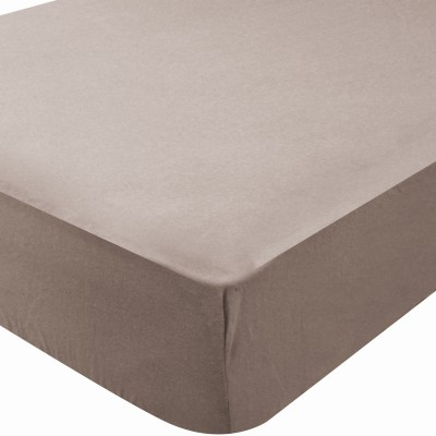 drap housse microfibre simply taupe 60 x 120 cm. Black Bedroom Furniture Sets. Home Design Ideas