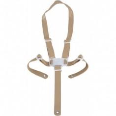 Harnais de sécurité pour chaise haute Ovo beige imitation cuir