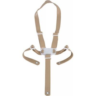Harnais de sécurité pour chaise haute Ovo beige imitation cuir  par Micuna