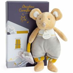 Coffret peluche Bulu en pyjama La petite souris va passer (19 cm)