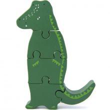 Puzzle vertical en bois Mr. Crocodile  par Trixie