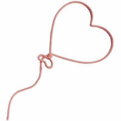 Déco murale ballon coeur en tricotin (coloris personnalisable)