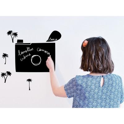 Sticker mural pense-bête en ardoise Clic Clac  par Mimi'lou