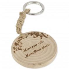 Porte-clés en bois Merci pour cette merveilleuse année