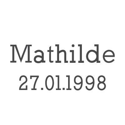 Gravure prénom + date sur médaille (Typo 7 Rockwell)  par Gravure magique