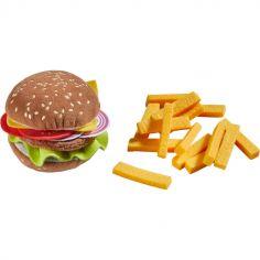Hamburger factice avec frites